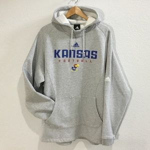 Adidas Kansas Jayhawks Football hoodie spell out